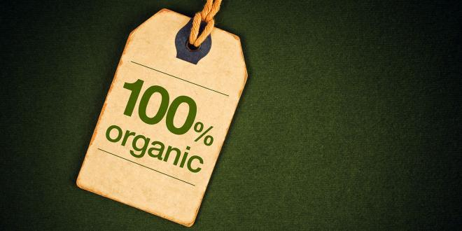 "A label which says ""100% organic"""